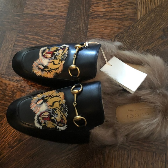 Gucci Other - Gucci Princetown Fur Tiger Slippers (Men's 10)